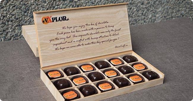 customised box of chocolates