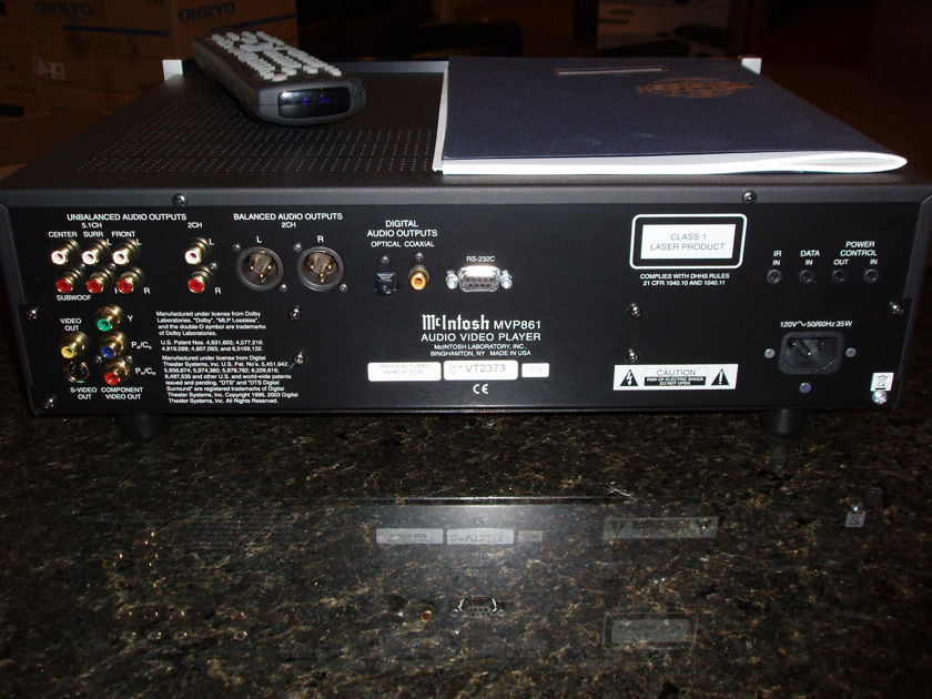 McIntosh MVP861 MVP-861 DVD / DVD-Audio / SACD / CD Player With Balanced Audio Output