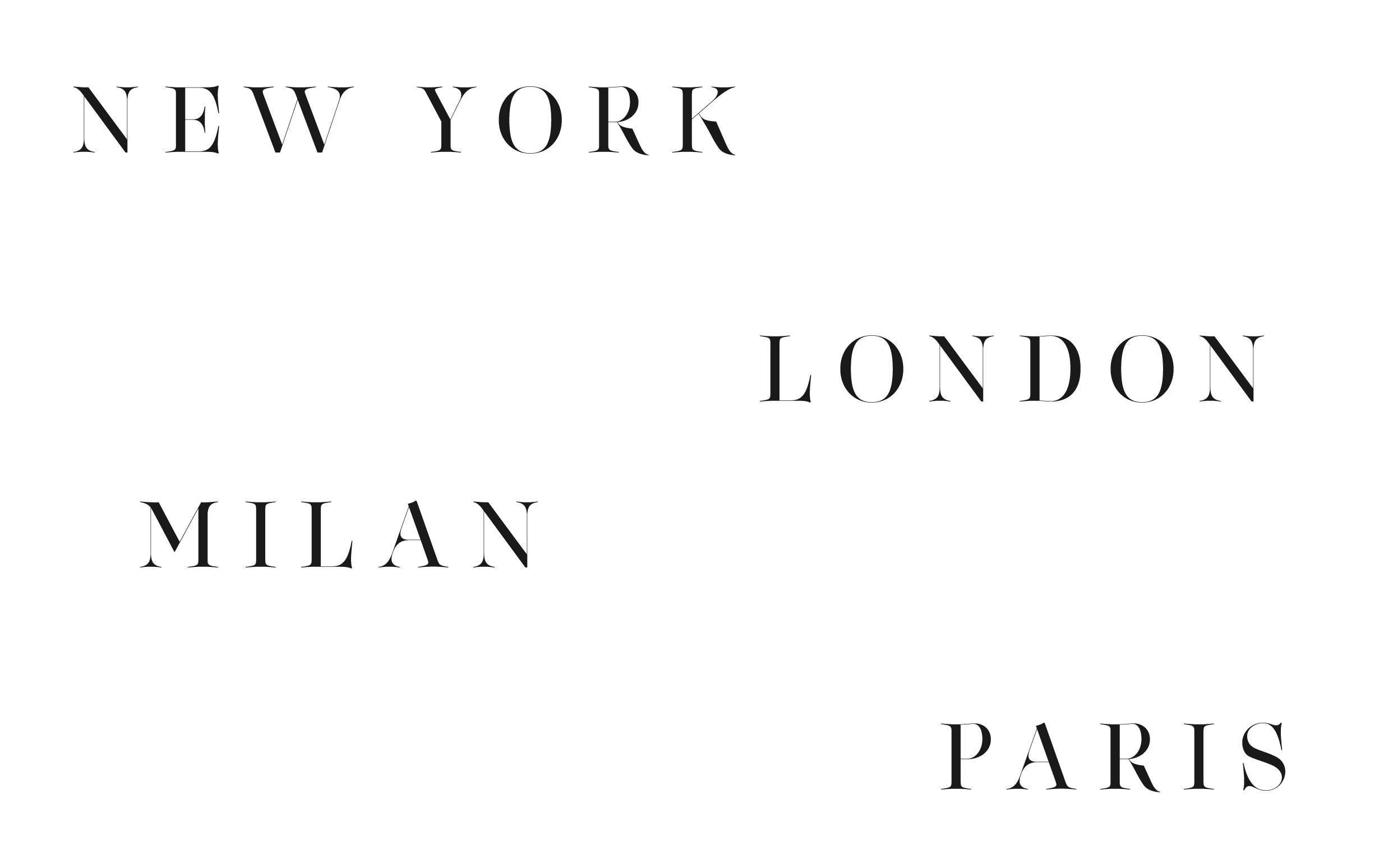 New York - Custom sexy type collection by Moshik Nadav Typography