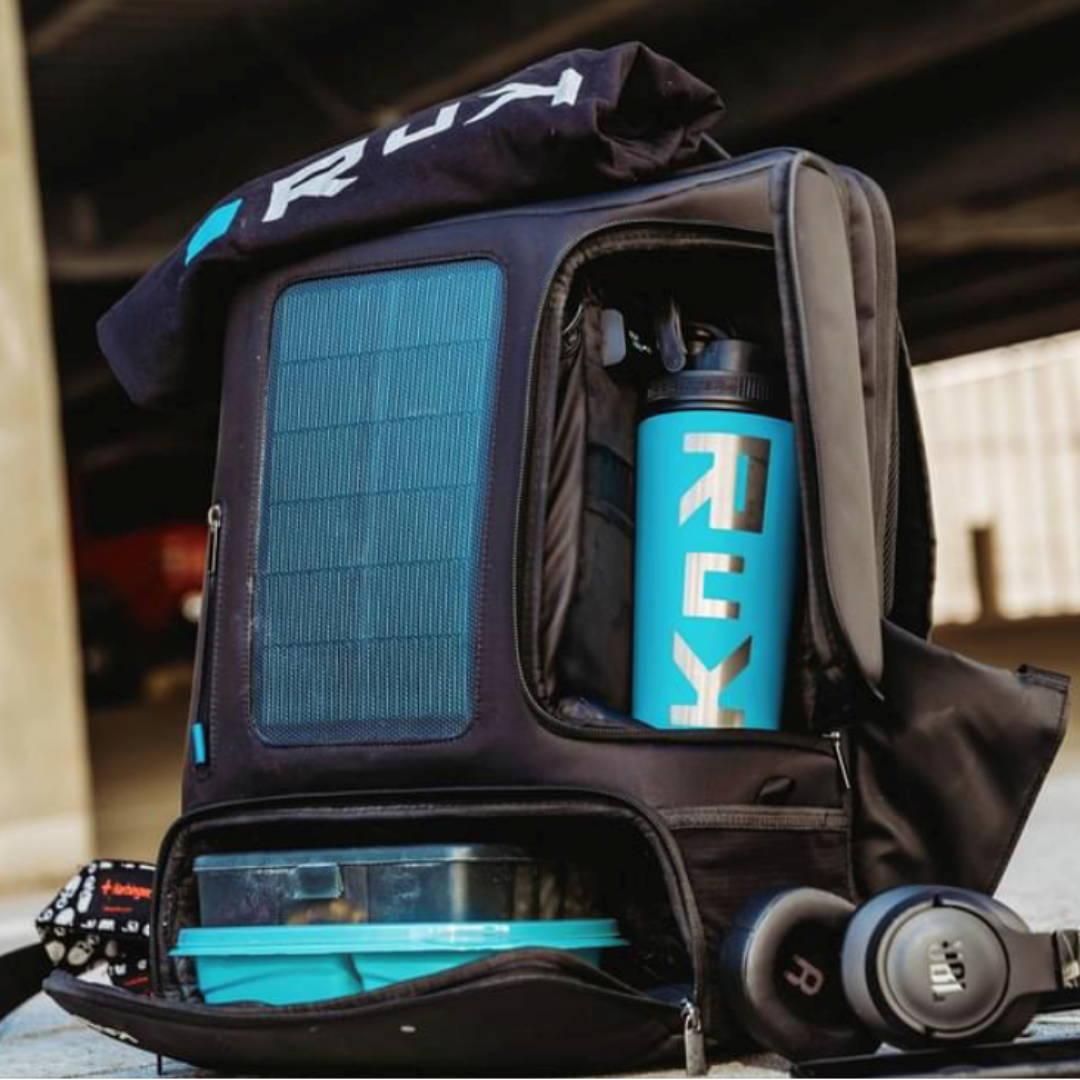 Laptop Backpack, Water-Resistant,  Best Travel Backpack TSA approved, Commuter Backpack, Solar panel charger, RuK Backpack, Fitness Backpack, Solar Backpack