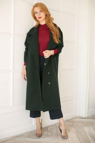 Пальто зеленое Bonali 7013-0580