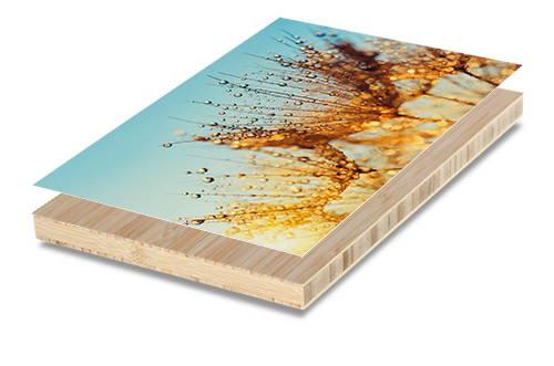 Premium paper print mounted to bamboo