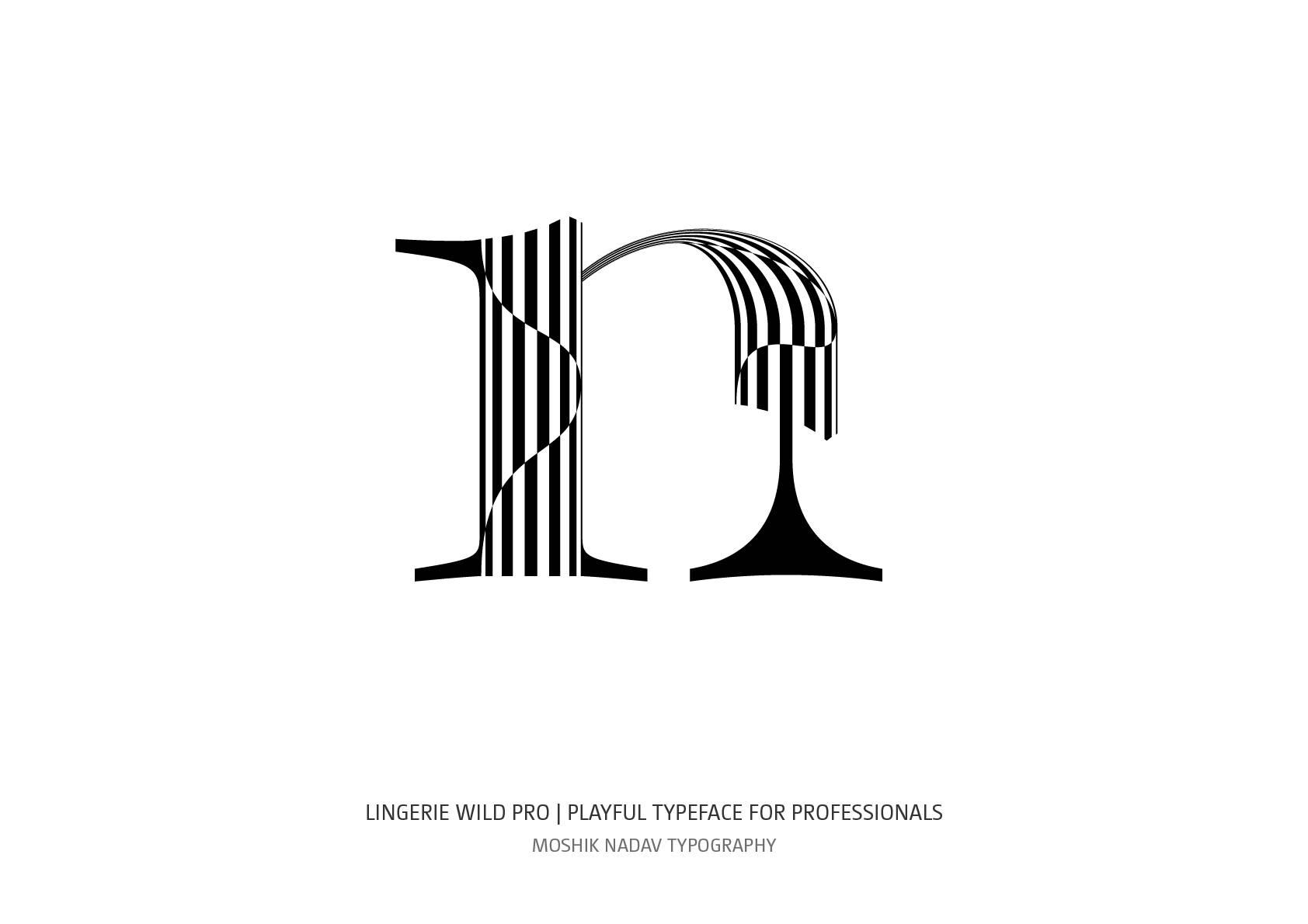 Gorgeous font for fashion and logos by Moshik Nadav Luxury Typography design studio NYC