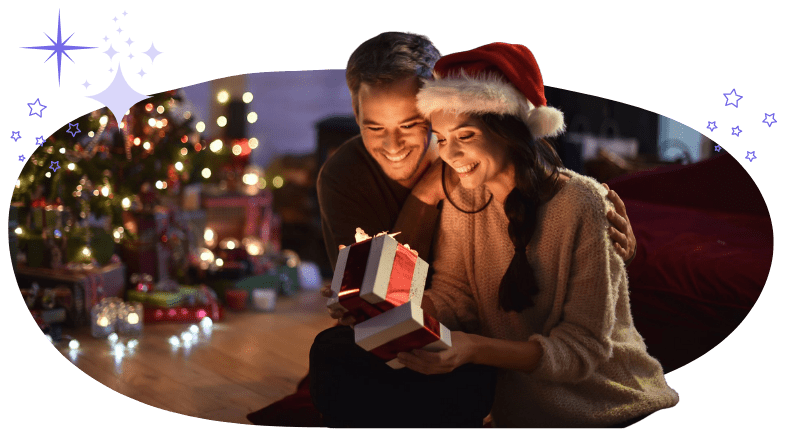 Couple unpacking christmas presents buddyhelp giveaway betterhelp win