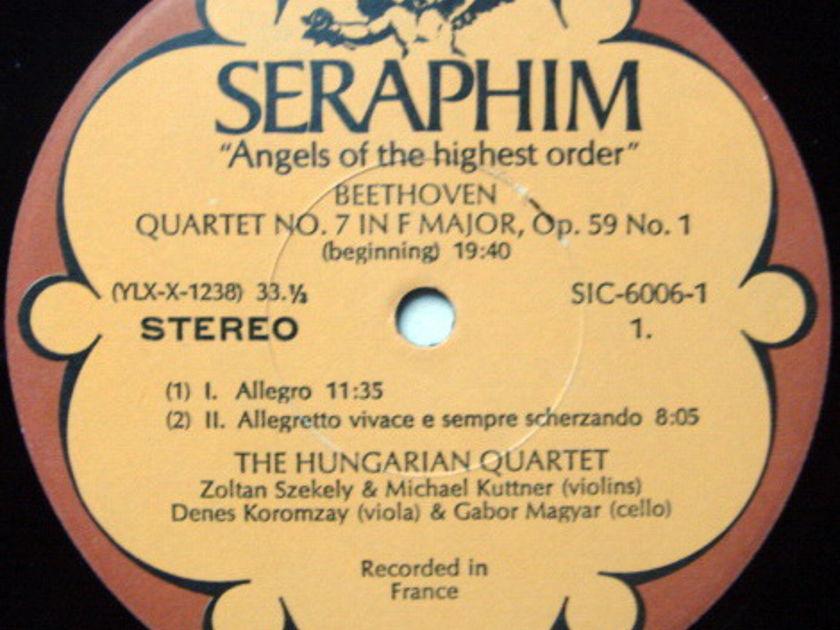 EMI Angel Seraphim / HUNGARIAN QT, - Beethoven The Middle Quartets, MINT, 3LP Box Set!