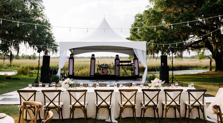 How to Set Up Your Backyard or Blank Space Wedding