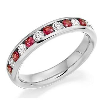 Cutaway diamond eternity ring from Pobjoy