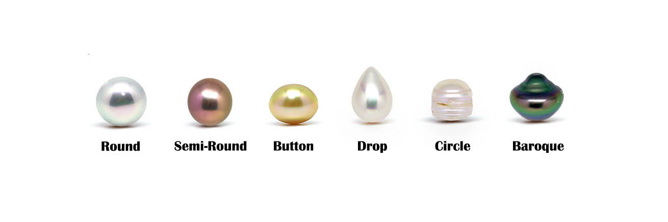 Different Shapes of Pearls