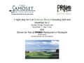 Samoset Resort Stay and Dinner at Primo