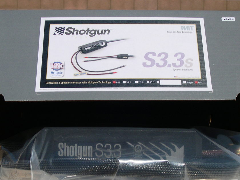 MIT Shotgun S3.3 spkr cable 8ft pair 60% OFF! Limited time only.  Lifetime Warranty