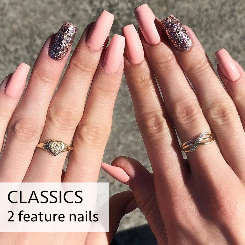 classic acrylic nails brisbane