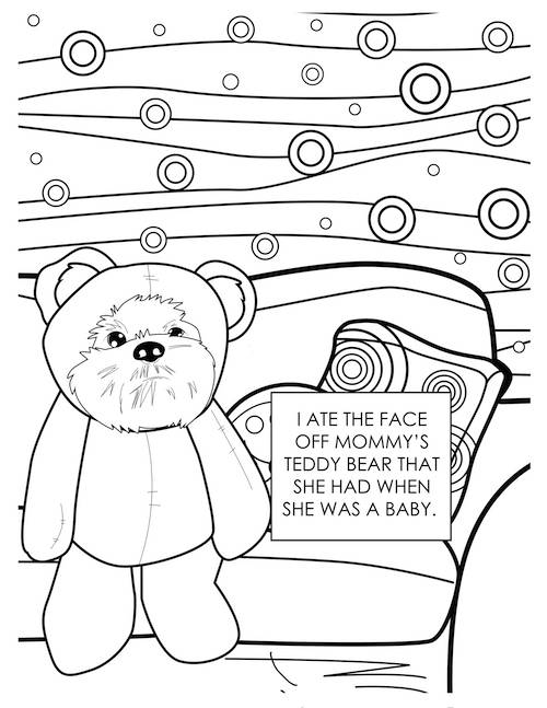 dog coloring page 2