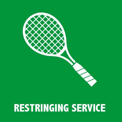 Tennis racquet restringing service