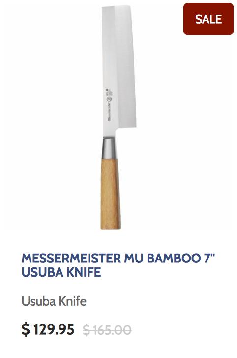 Messermeister Mu Bamboo 7 Inch Usuba Knife