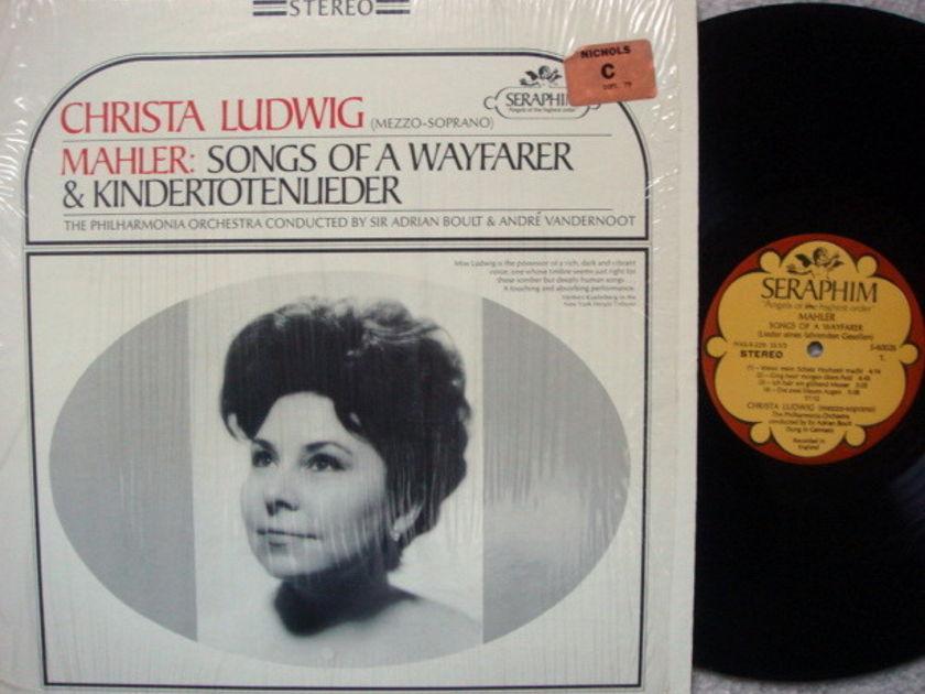 EMI Angel Seraphim / LUDWIG-BOULT, - Mahler Songs of a Wayfarer,  MINT!