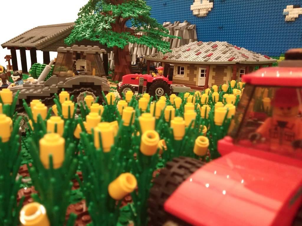 lego Living in a corn farm