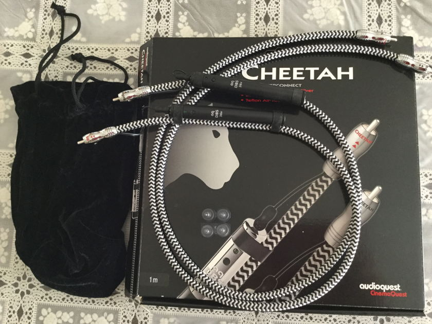 Audioquest CHEETAH  RCA MINT CONDITION