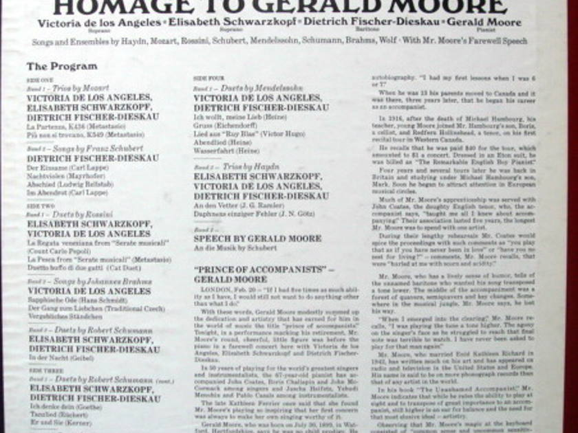 EMI Angel Blue / SCHWARZKOPF, - Homage to GERALD MOORE, MINT, 2LP Box Set!