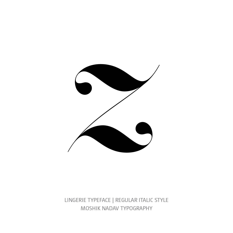 Lingerie Typeface Regular Italic z - Fashion fonts by Moshik Nadav Typography