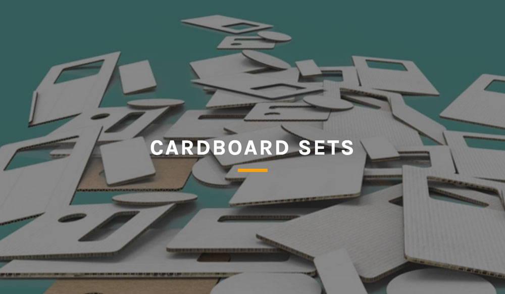 assorted geometric cardboard shapes