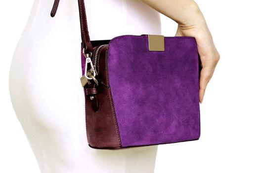 Фиолетовая замшевая сумка Luna