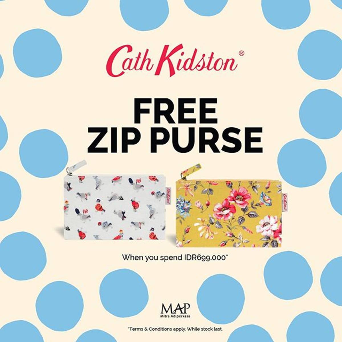 Katalog Promo: Cath Kidston: Promo FREE Zip Purse dengan pembelian min. Rp 699K - 1