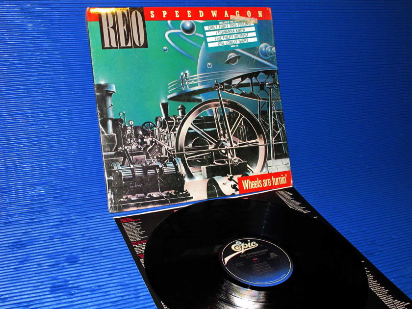 "REO SPEEDWAGON -  - ""Wheels are Turnin'"" - Epic 1984 1st pressing"
