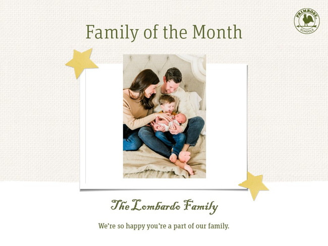 family of the month october