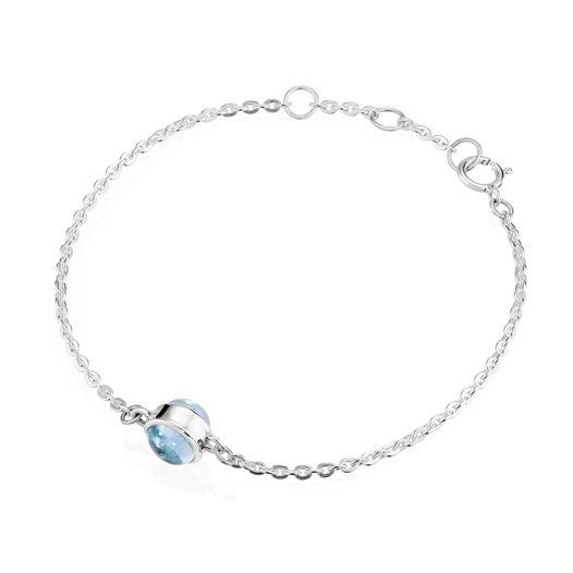 Браслет ALPHA - Голубой топаз