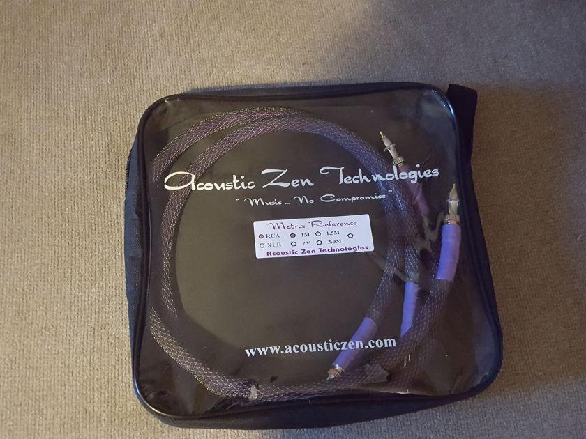 Acoustic Zen Technologies Matrix Reference 2  1meter Excellent condition