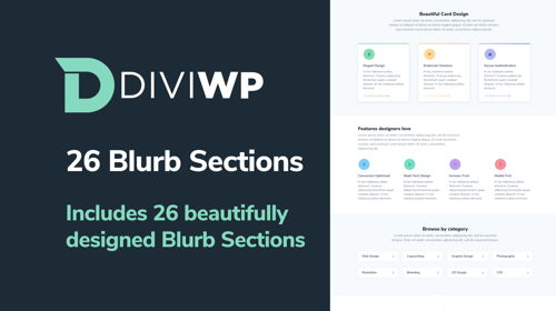 DiviWP Blurb Sections Layout