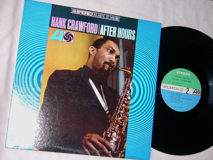 HANK CRAWFORD - AFTER HOURS - - RARE ORIG 1967 JAZZ LP  - ATLANTIC SD 1455