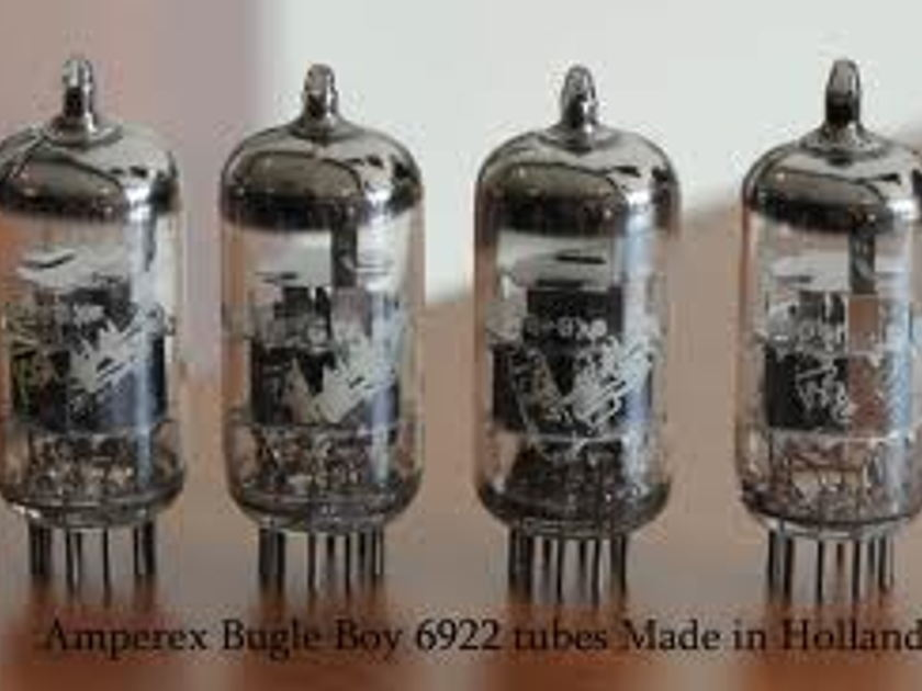 AMPEREX BUGLE BOYS ECC88/6DJ8 QUAD OF 4 X HICKOK TESTED AND MATCHED  TUBES FREE WORLD WIDE AIRMAIL SHIPPING