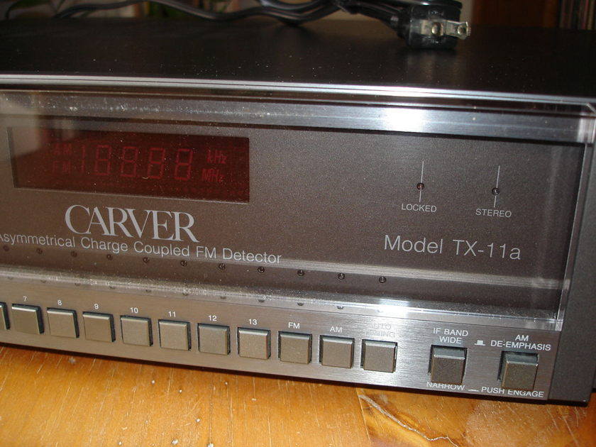 Carver TX-11a AM-FM tuner,  purchased from original owner