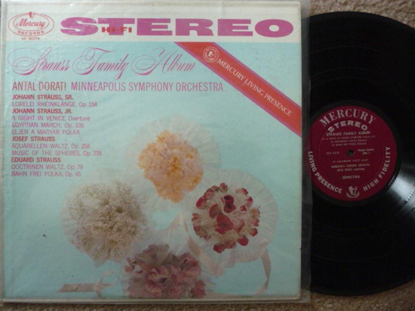 STRAUSS FAMILY ALBUM - ANTAL DORATI  MERCURY LP EXCEL