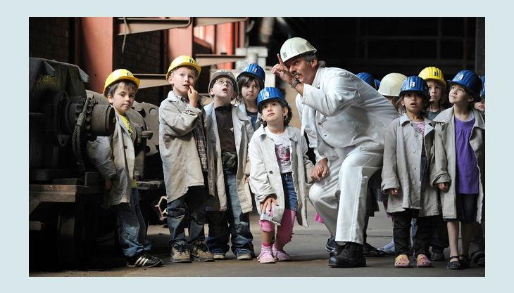 stiftung zollverein kinder mit bergman