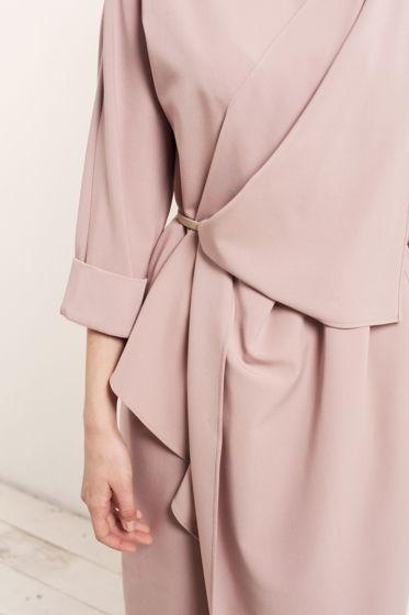 Платье ОРИГАМИ припыленно-розовое