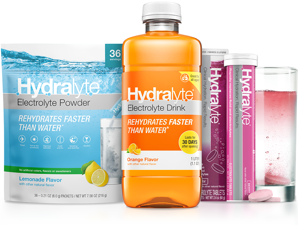 Hydralyte Powders, Liquids, Tablets