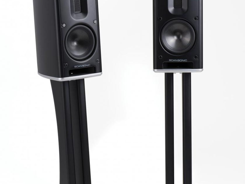 Scansonic MB-1 Monitor speakers with Raidho DNA