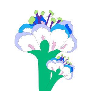 Foulard bandeau en soie Collection la fleur virginie riou