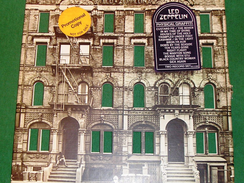 LED ZEPPELIN - PHYSICAL GRAFFITI - RARE PROMOTIONAL COPY with ALL STICKERS * 100% COMPLETE NM 9/10 *