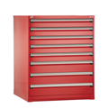 Rousseau Stationary Drawer Cabinets red with dividers