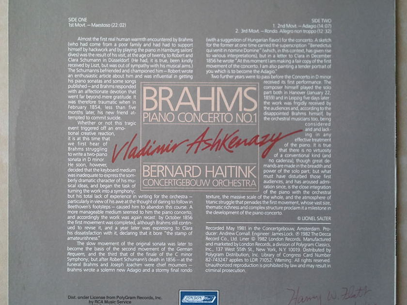 London Digital/Ashkenazy/Brahms - Piano Concerto No. 1