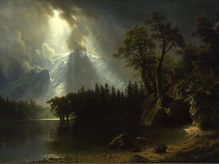 Albert Bierstadt, Passing Storm over the Sierra Nevadas