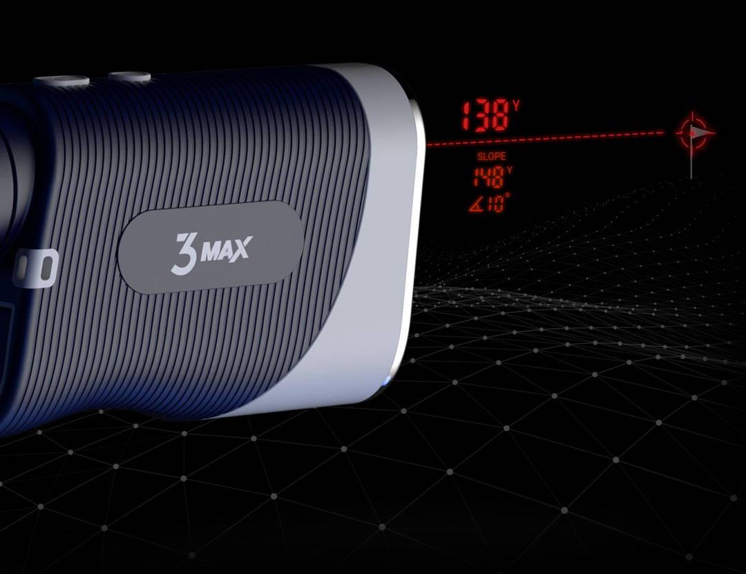 Blue Tees Golf Series 3 Max Rangefinder advanced slope technology