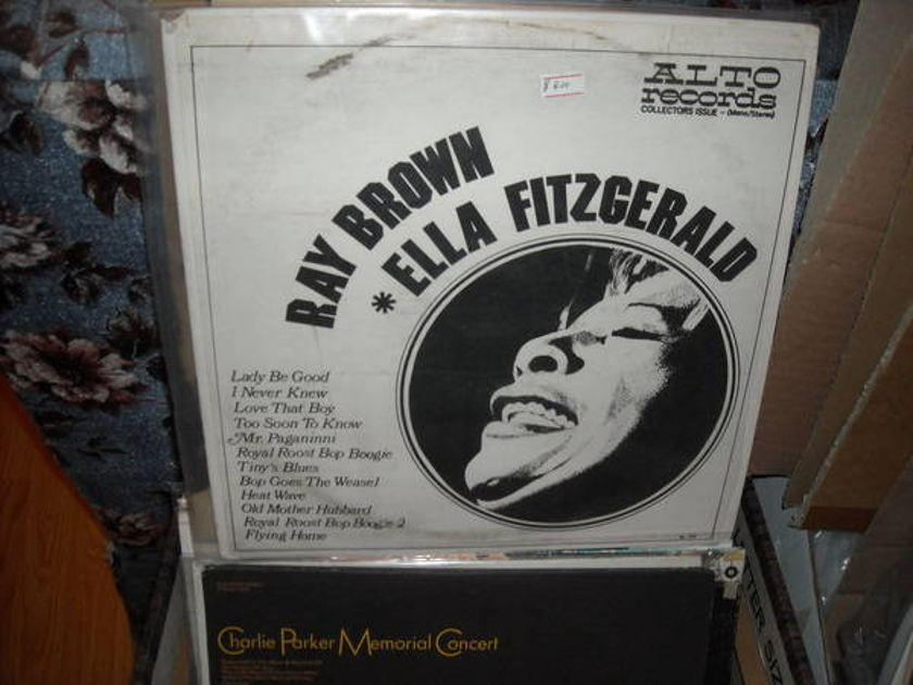 Ray brown - Ella Fitzgerald alto records  lp (c)