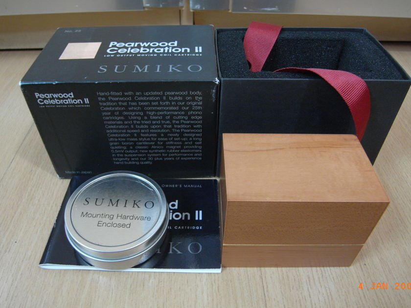 Sumiko Pearwood Celebration  II MC Cartridge (Brand New)  – Free shipping