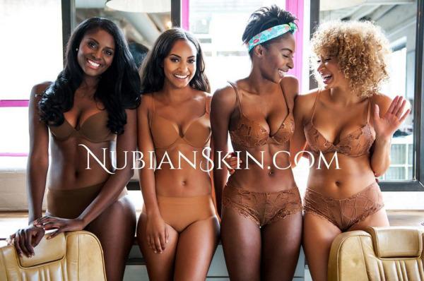 nude lingerie nubian skin