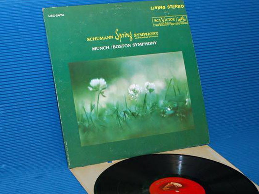 "SCHUMANN/Munch - - ""Spring Symphony"" - RCA 'Shaded Dog' 1961 1st pressing"