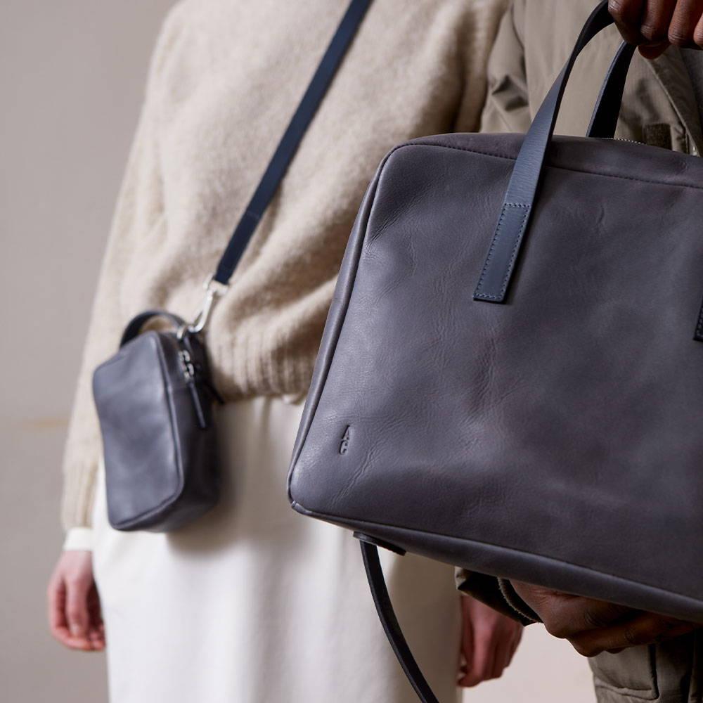 Ally Capellino AW21 calvert leather handbag campaign image